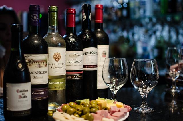 vína různého druhu