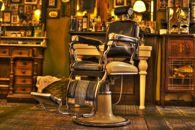 křeslo barber shopu