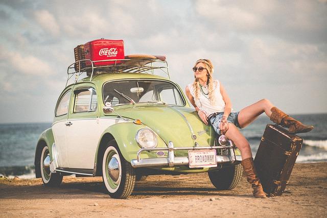 coca-cola na autě